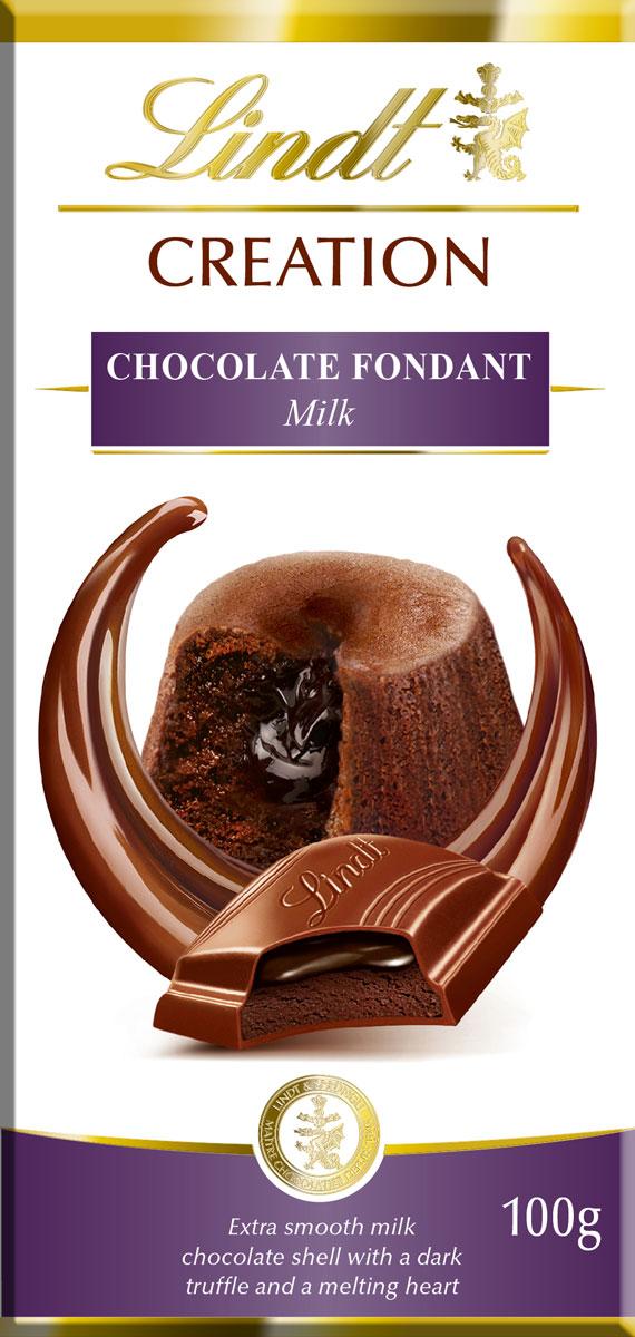 Lindt Creation Шоколад Фондан молочный шоколад c начинкой, 100 г шоколад молочный lindt creation пралине с вафлей 150 г