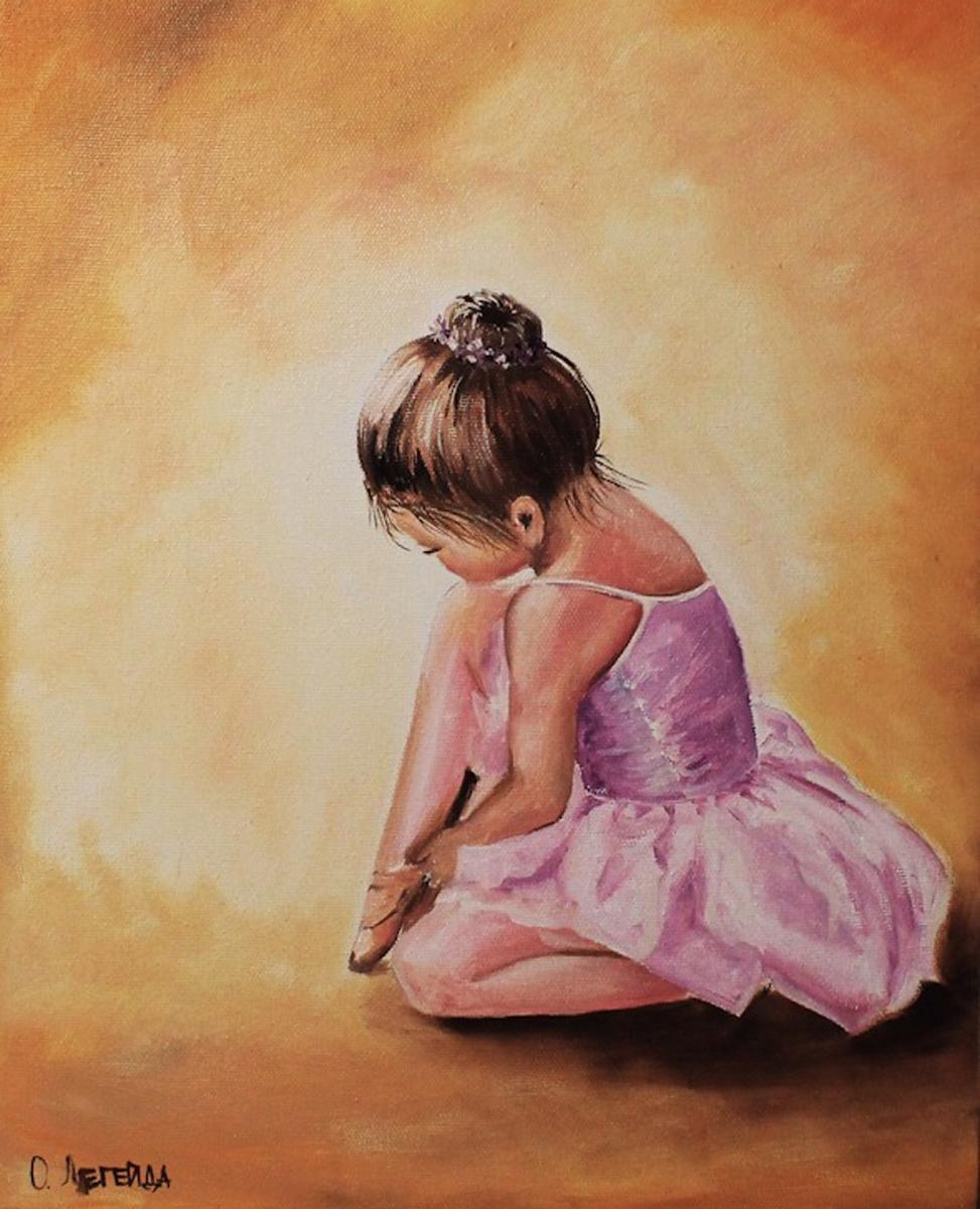 """Набор для рисования по номерам Цветной """"Балерина малышка"""", 40 х 50 см"""