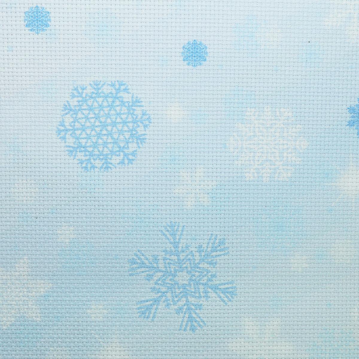 "Канва для вышивки ""Bestex"", цвет: голубой, 30 х 30 см. 7721913_017"