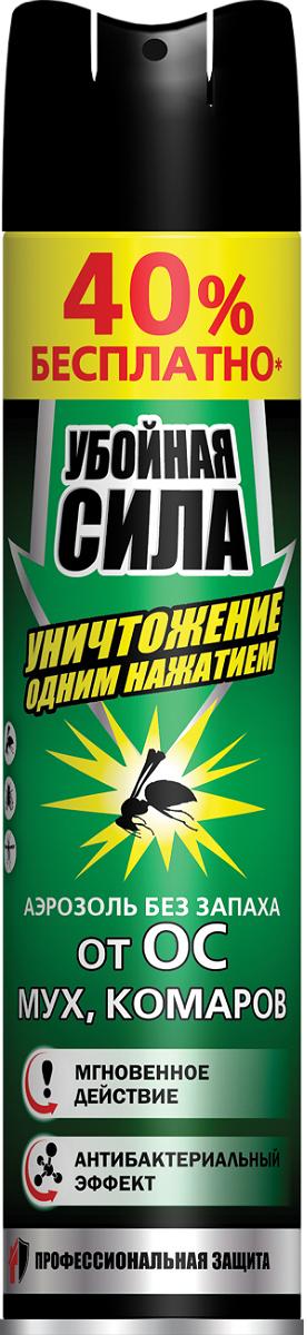 Аэрозоль Убойная сила Extra, 200 мл + 40% бесплатно аэрозоль от насекомых убойная сила extra 200мл