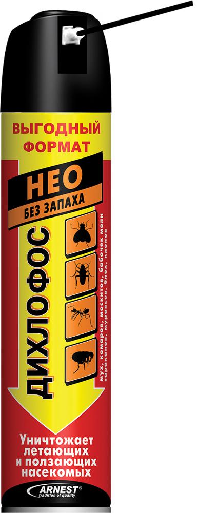 Аэрозоль от летающих и ползающих насекомых Дихлофос Нео, 600 мл средство от насекомых дихлофос нео 190 мл от летающих и ползающих насекомых