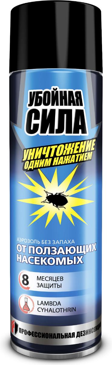 Аэрозоль от ползающих насекомых Убойная сила, 350 мл аэрозоль от насекомых убойная сила extra 200мл