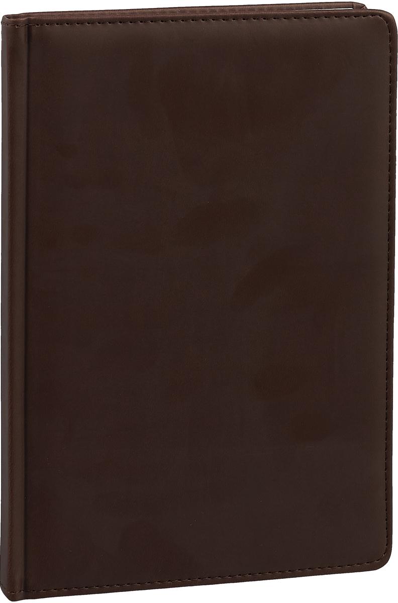 Канц-Эксмо Ежедневник Optima недатированный 136 листов цвет темно-коричневый формат А5