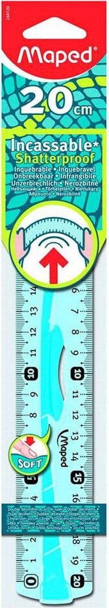 Maped Линейка Flex цвет бирюзовый 20 см линейка maped twist n flex неломающаяся цвет голубой 20 см