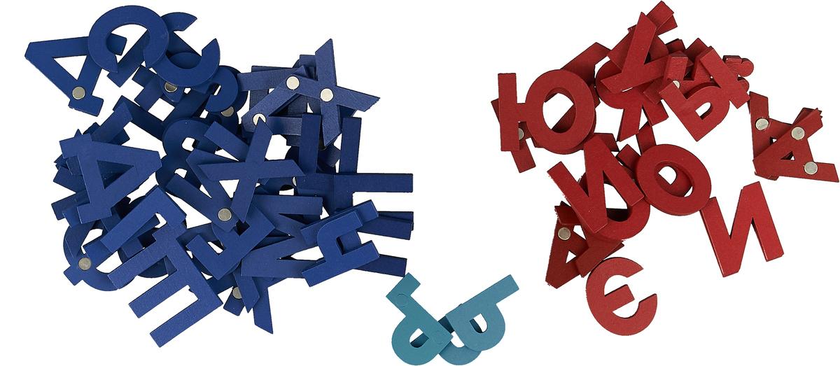 Речь плюс. Буквы. 80 деревянных магнитных букв
