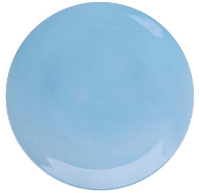 Тарелка обеденная Miolla, цвет: голубой, 27 см авент стерилизатор для свч печи арт 82765 scf281 02