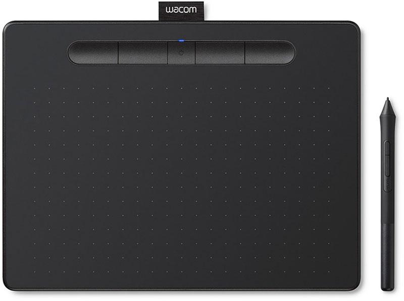 Графический планшет Wacom Intuos M Bluetooth CTL-6100WLK-N, Black графический планшет wacom intuos bluetooth medium ctl 6100wlk n черный