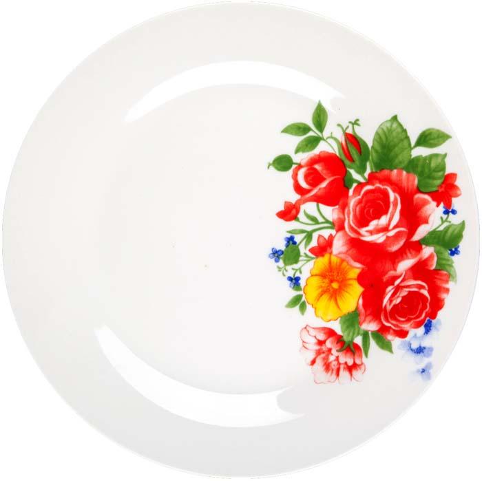 Тарелка обеденная Miolla Цветы, 23 см. CS01-01/14CS01-01/14Коллекция Цветы и Цветы 2 от Miolla представляет собой традиционную классику, выполненную в нежных цветовых решениях и изысканном дизайне. Коллекция включает в себя линейку: суповая тарелка 20 см, салатник 23 см, Подходит для использования в микроволновой печи, можно мыть в посудомоечной машине.