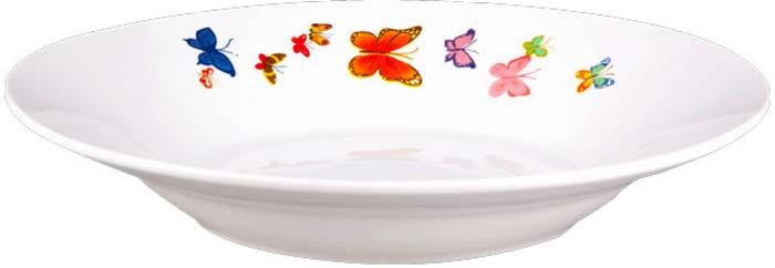 """Тарелка суповая Miolla """"Бабочки"""", 20 см"""