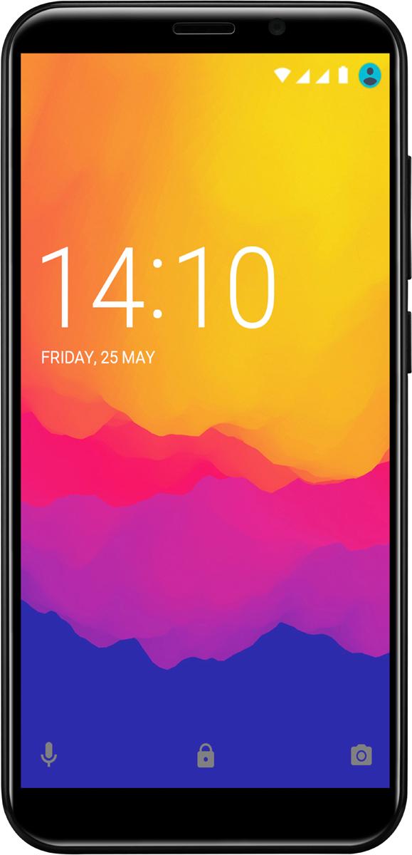 Смартфон Prestigio Wize Q3 8 GB, черный смартфон prestigio wize nv3 psp3537duo green