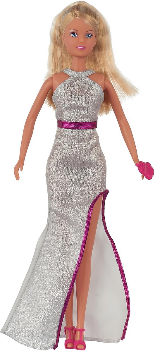 Simba Кукла Штеффи в сияющем вечернем платье цвет серый