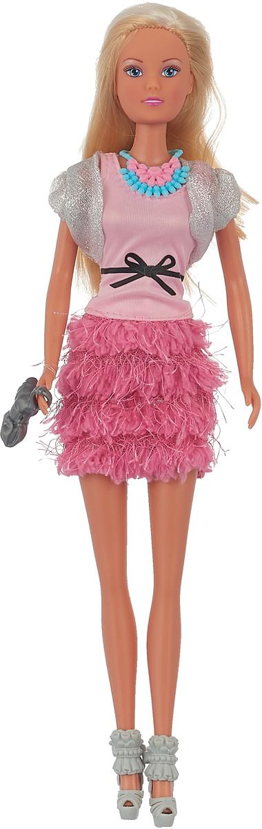 цены на Simba Кукла Штеффи Делюкс цвет розовый  в интернет-магазинах
