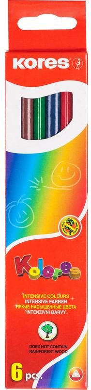 Kores Набор цветных карандашей 6 цветов