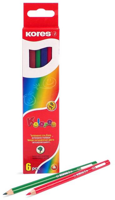 Kores Набор цветных карандашей 6 цветов 153053