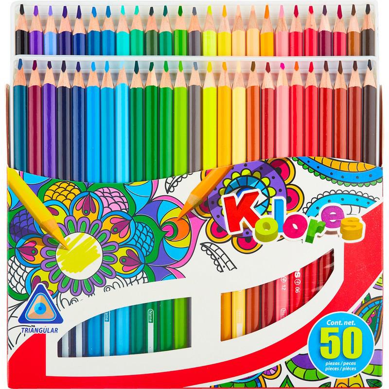Kores Набор цветных карандашей 50 цветов