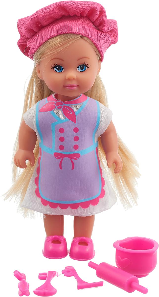 Simba Кукла Еви Любимая работа Повар цвет розовый сиреневый simba мини кукла еви в летней одежде цвет розовый