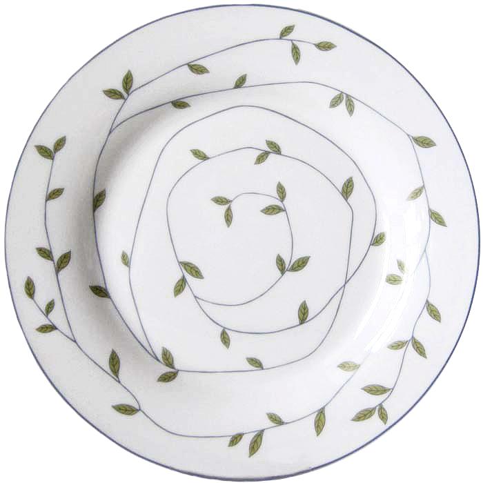 """Десертная тарелка Miolla """"Листья"""", 19 см"""