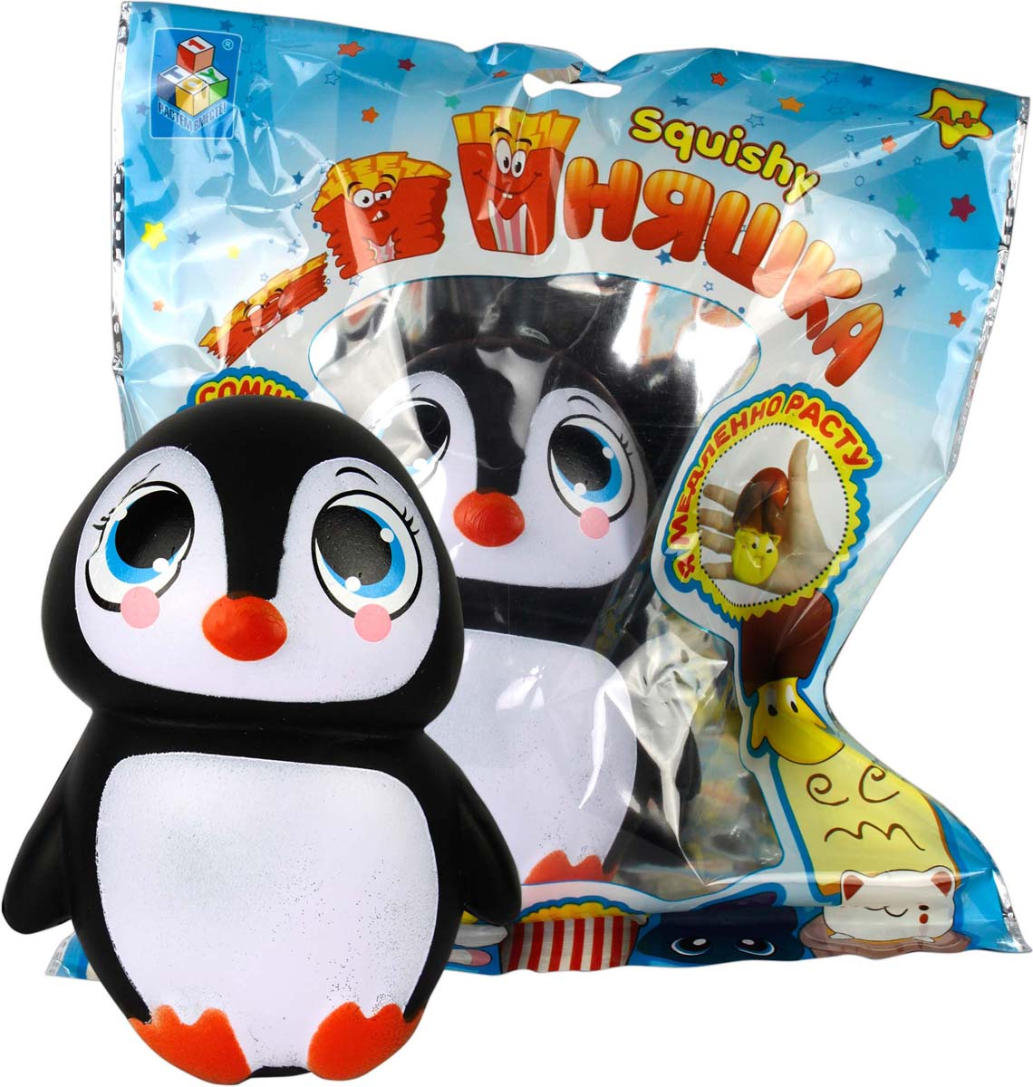 1TOY Игрушка-антистресс Мммняшка Пингвин