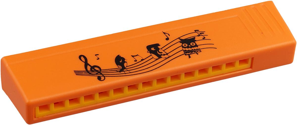 Пластмастер Музыкальная игрушка Гармошка цвет оранжевый