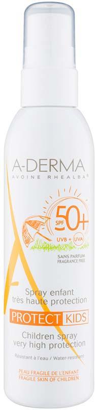 "A-Derma Cолнцезащитный спрей для детей ""Protect"" SPF50+, 200 мл"
