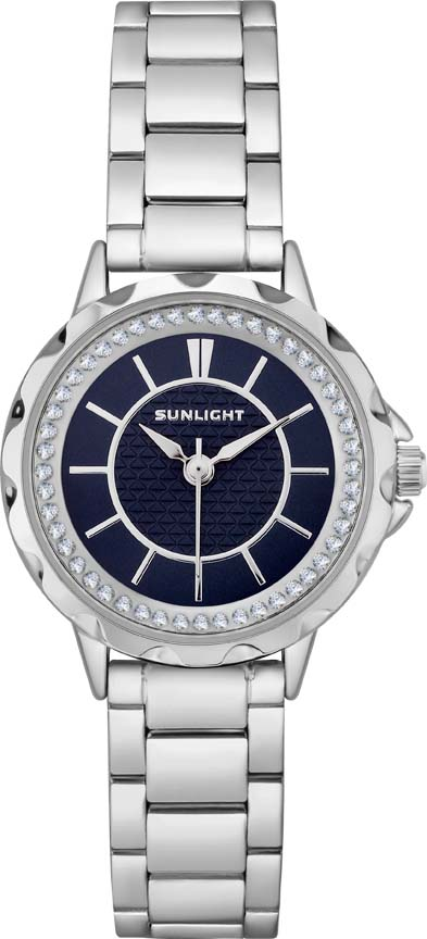 Часы наручные женские Sunlight, цвет: синий, серебристый. S270ASN-02BAS270ASN-02BAЖенские наручные часы Sunlight с кварцевым механизмом идеально подойдут под любой образ. Стильная строгая модель на металлическом браслете. Такие часы украсят свою владелицу и подчеркнут ее неповторимость и индивидуальный стиль.