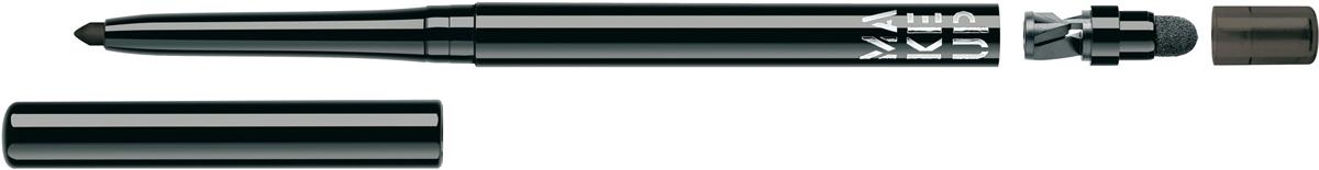 Make up Factory Автоматический контурный карандаш для глаз Automatic Eyeliner №01, цвет: черный вельвет карандаш для глаз limoni eyeliner pencil 01 цвет 01 black variant hex name 000000