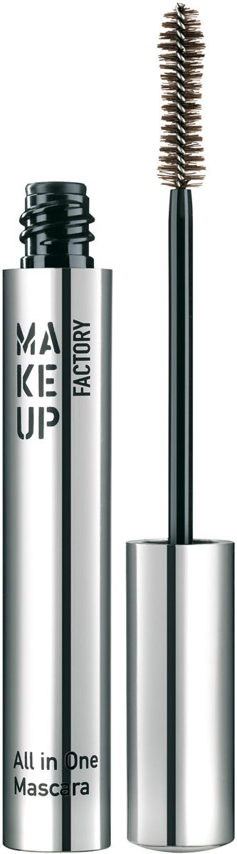 купить Make up Factory Тушь для ресниц комбинированная All In One Mascara №04, цвет: коричневый, 9 мл по цене 765 рублей