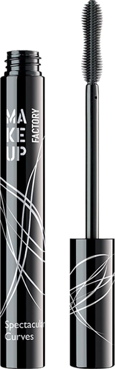 купить Make up Factory Тушь для ресниц удлинение, подкручивание, разделение Spectacular Curves, цвет: черный, 7 мл по цене 840 рублей