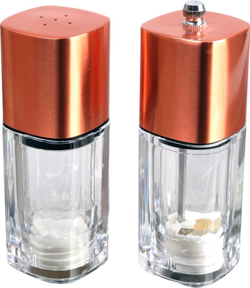 """Набор для специй """"Queen Ruby"""", цвет: прозрачный, золотой, 2 предмета. QR-8790"""