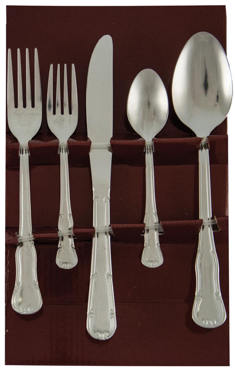 Набор столовых приборов Bayerhoff, цвет: серебристый, 45 предметов. BH-5186 салатная пара ложка вилка eme opera 2 шт нерж сталь