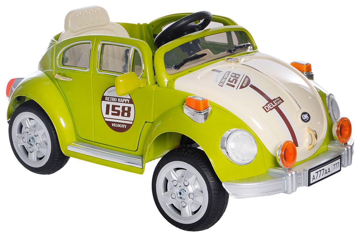 1TOY Электромобиль Жук цвет зеленый
