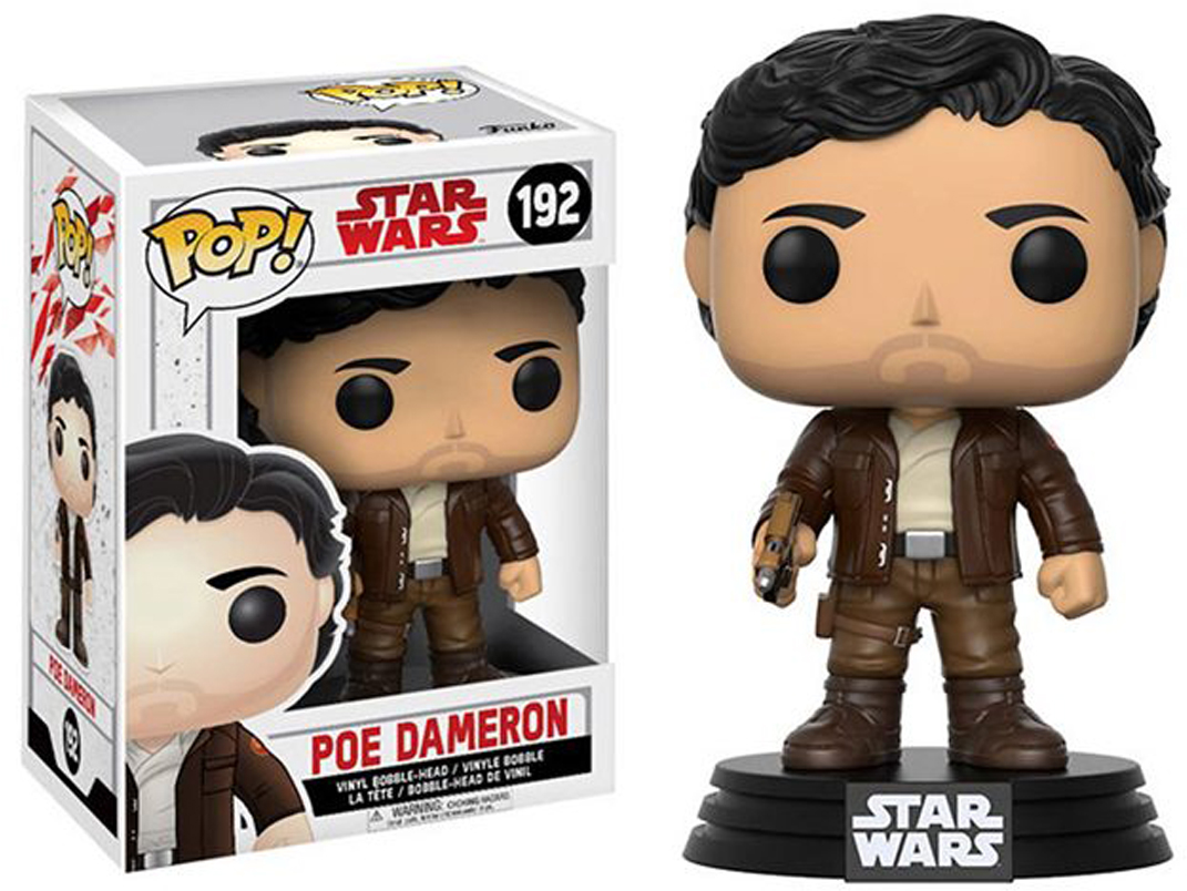 Funko POP! Bobble Фигурка Star Wars E8 TLJ Poe Dameron (POP 6) 14747 funko pop bobble фигурка star wars rogue one young jyn erso 14872