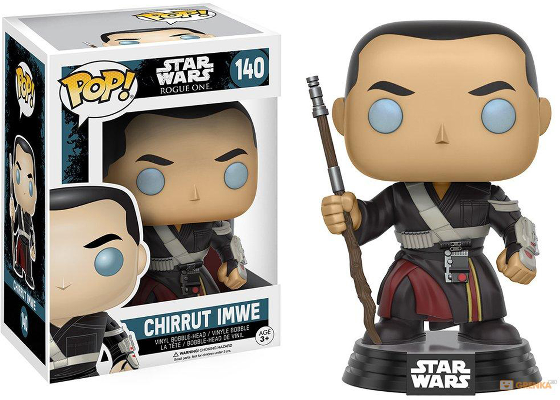 Funko POP! Bobble Фигурка Star Wars Rogue One Chirrut Imwe 10455 funko pop bobble фигурка star wars rogue one young jyn erso 14872