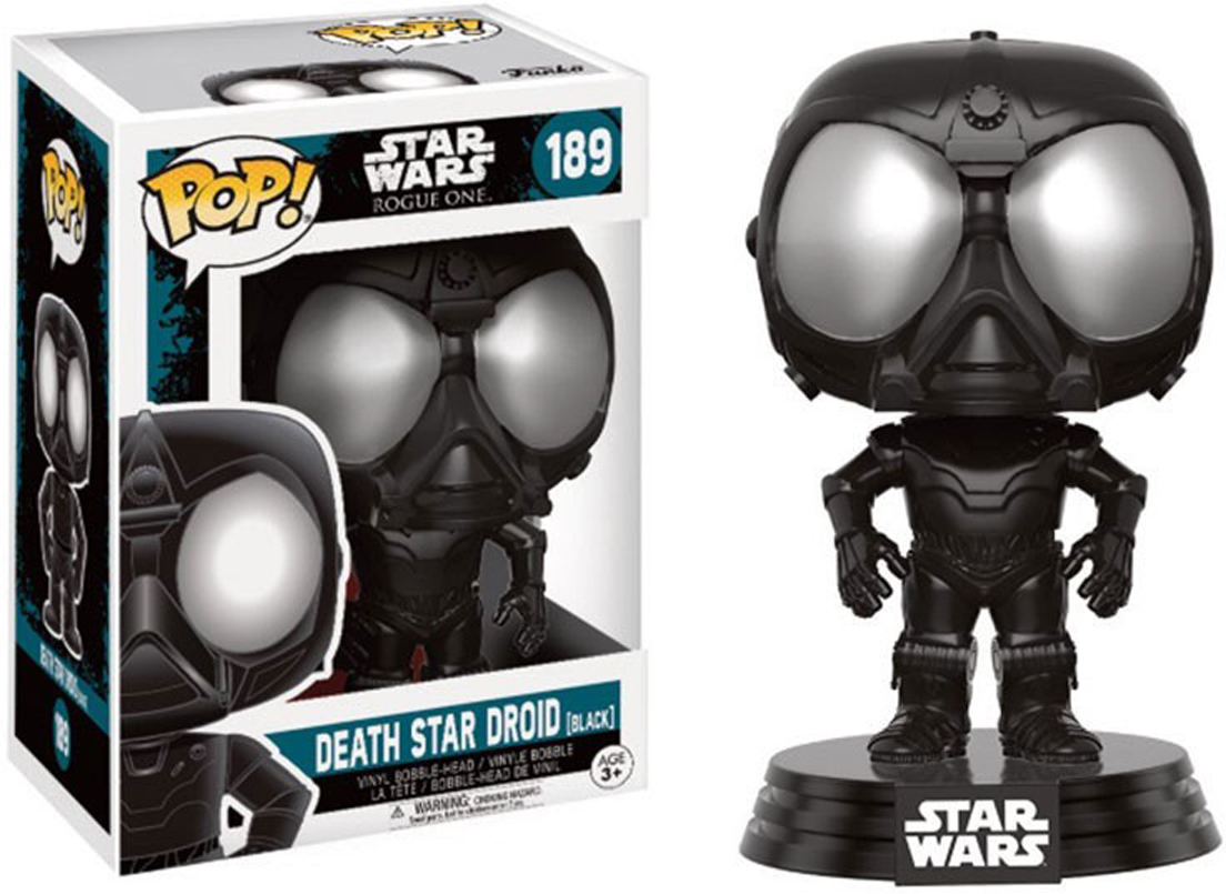 Funko POP! Bobble Фигурка Star Wars Rogue One Death Star Droid (Black) 14877 funko pop bobble фигурка star wars rogue one young jyn erso 14872