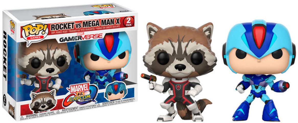 Funko POP! Vinyl 2-Pack Фигурка Capcom vs Marvel Rocket MegaMan X 22773