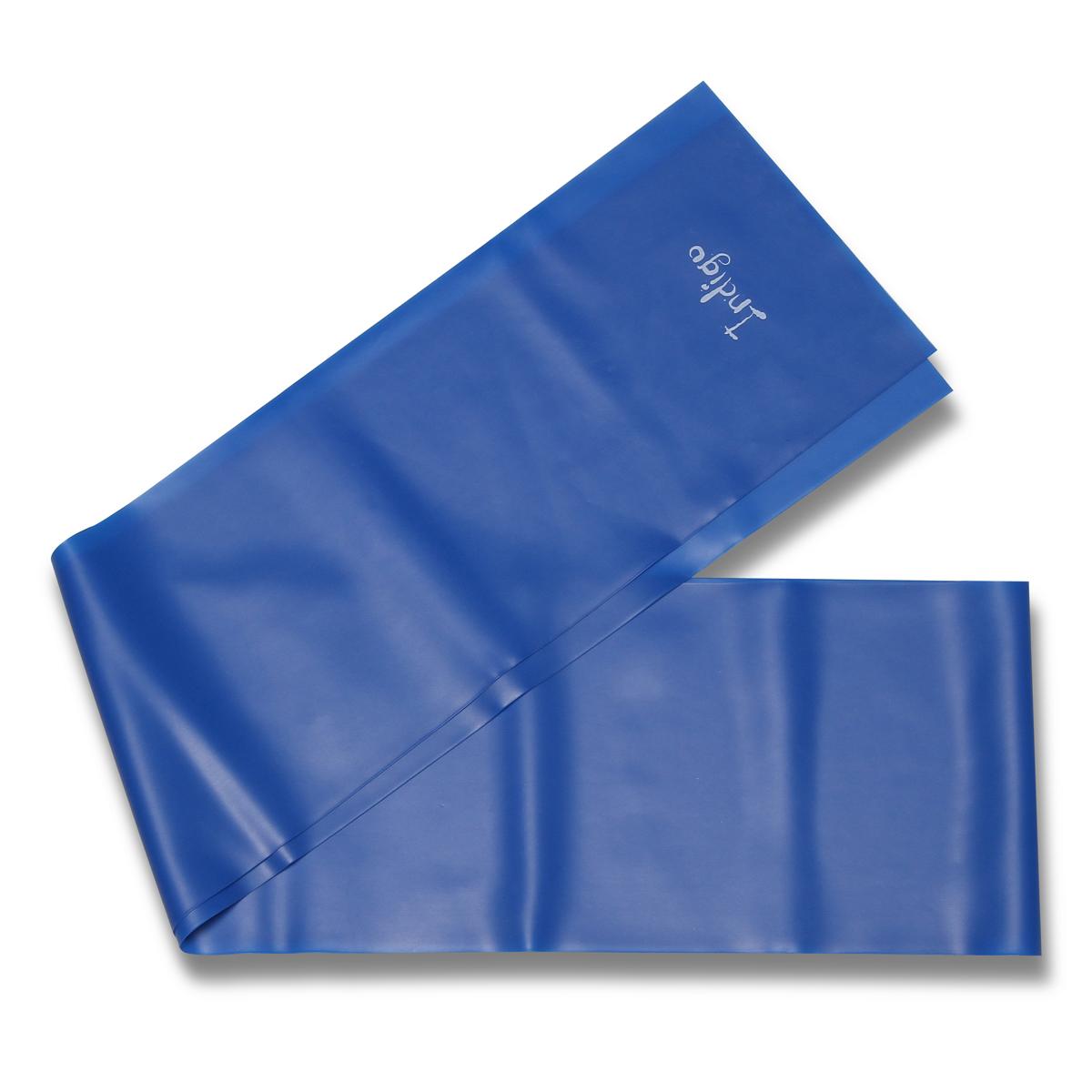 Эспандер ленточный Indigo Heavy, цвет: синий, 150 х 15 см цена