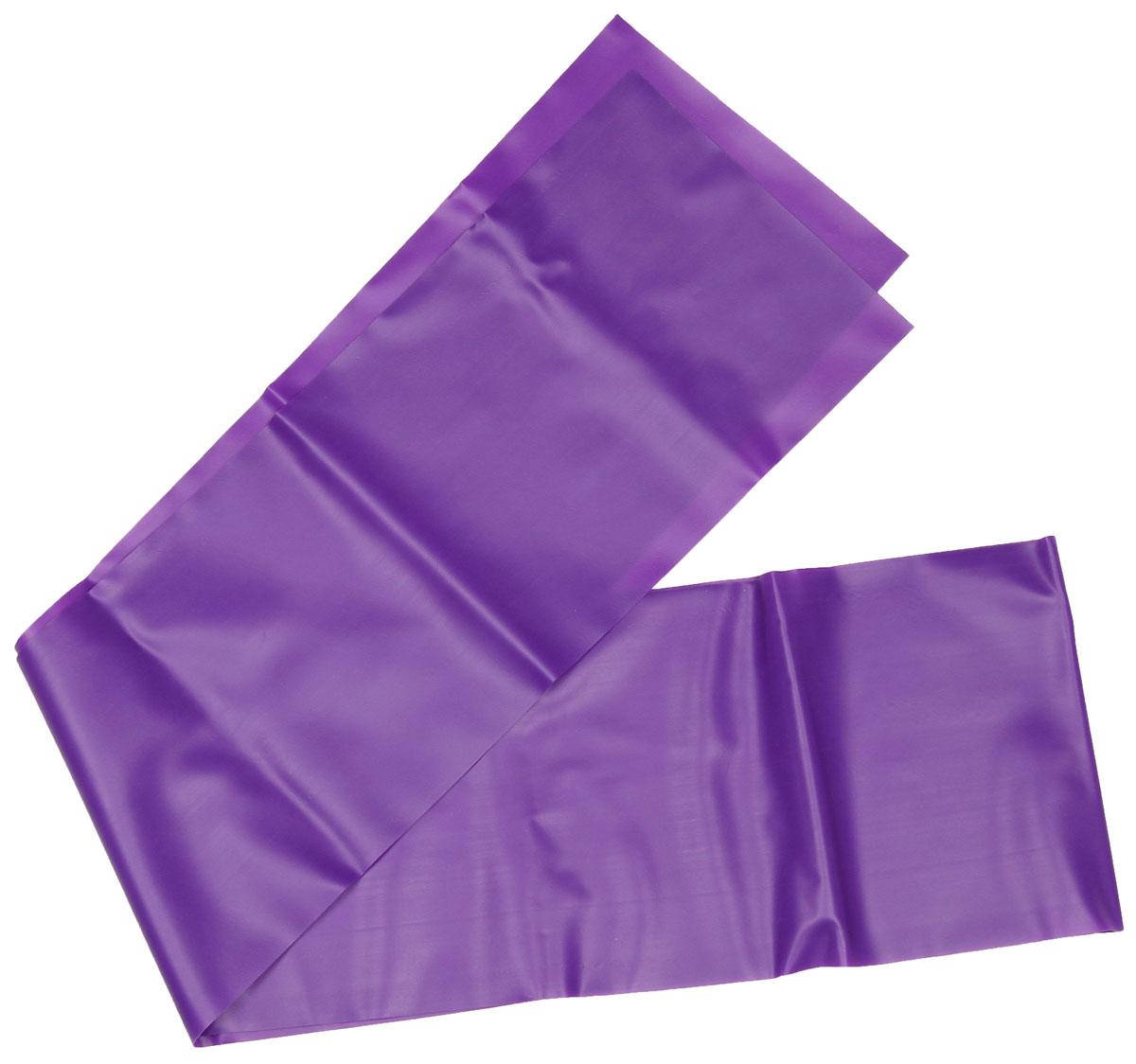 Эспандер ленточный Indigo Medium, цвет: фиолетовый, 150 х 15 см цена