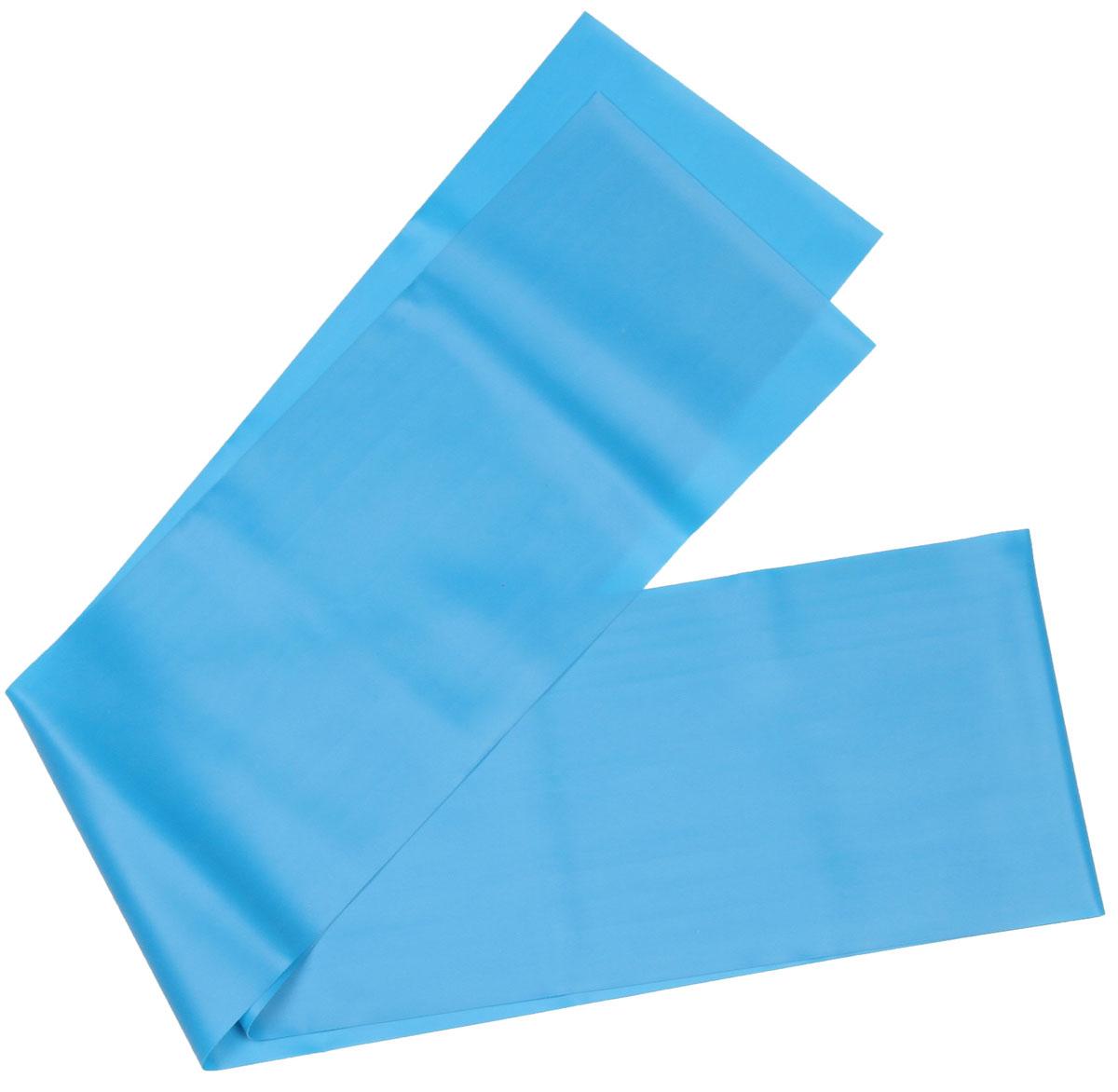 Эспандер ленточный Indigo Medium, цвет: голубой, 150 х 15 см цена