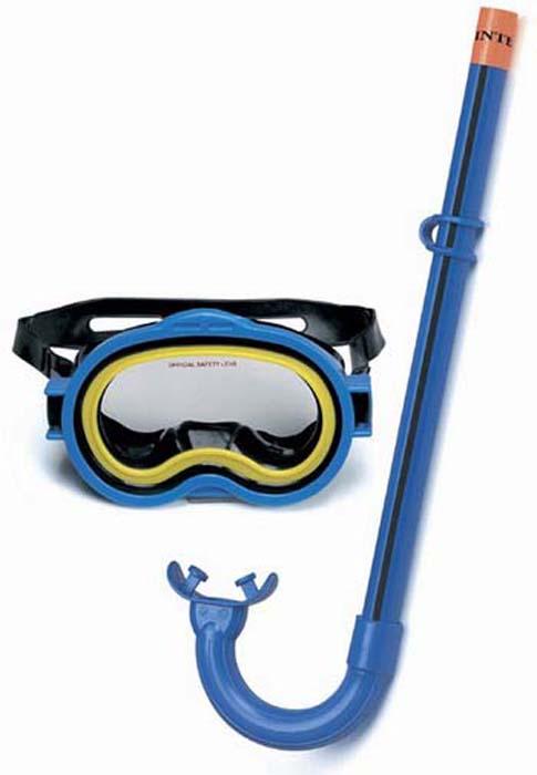 набор для плавания intex 55960 silicone aviator pro swim от 8 лет Набор для плавания Intex Приключения: маска, трубка