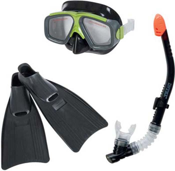Набор для плавания Intex Серфингист, маска, трубка, ласты набор маска с трубкой и ластами intex 55959