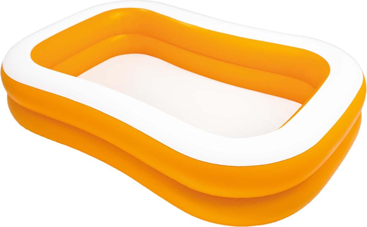 Бассейн надувной Intex Фэмили мандарин, 229 х 147 х 46 см тент от солнца для бассейна intex прямоугольный с сумкой с29030 голубой 960 х 466 см