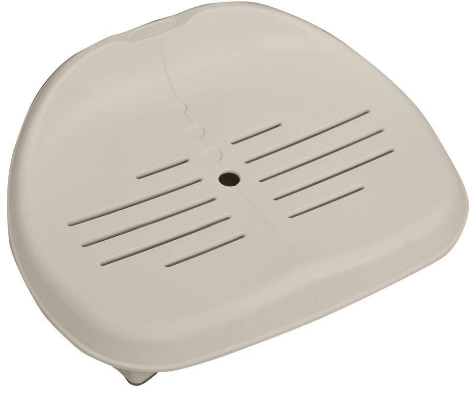 Сидение для спа Intex, 47 х 36 х 22 смс28502Пластиковое сидение для надувных джакузи Intex - один из необходимых аксессуаров для вашего надувного СПА. Сидение выполнение из материалов превосходного качества, легко крепится к джакузи, и так же легко отсоединяется. Дополнительная приятная опция - сидение можно регулировать по высоте. Размер сидения: 47 х 36 х 22 см. Изменяемая высота сидения: 7.5 и 15 см. Вес: 3.9 кг. Сидение предназначено исключительно для совместного использования с надувными джакузи ТМ Intex.