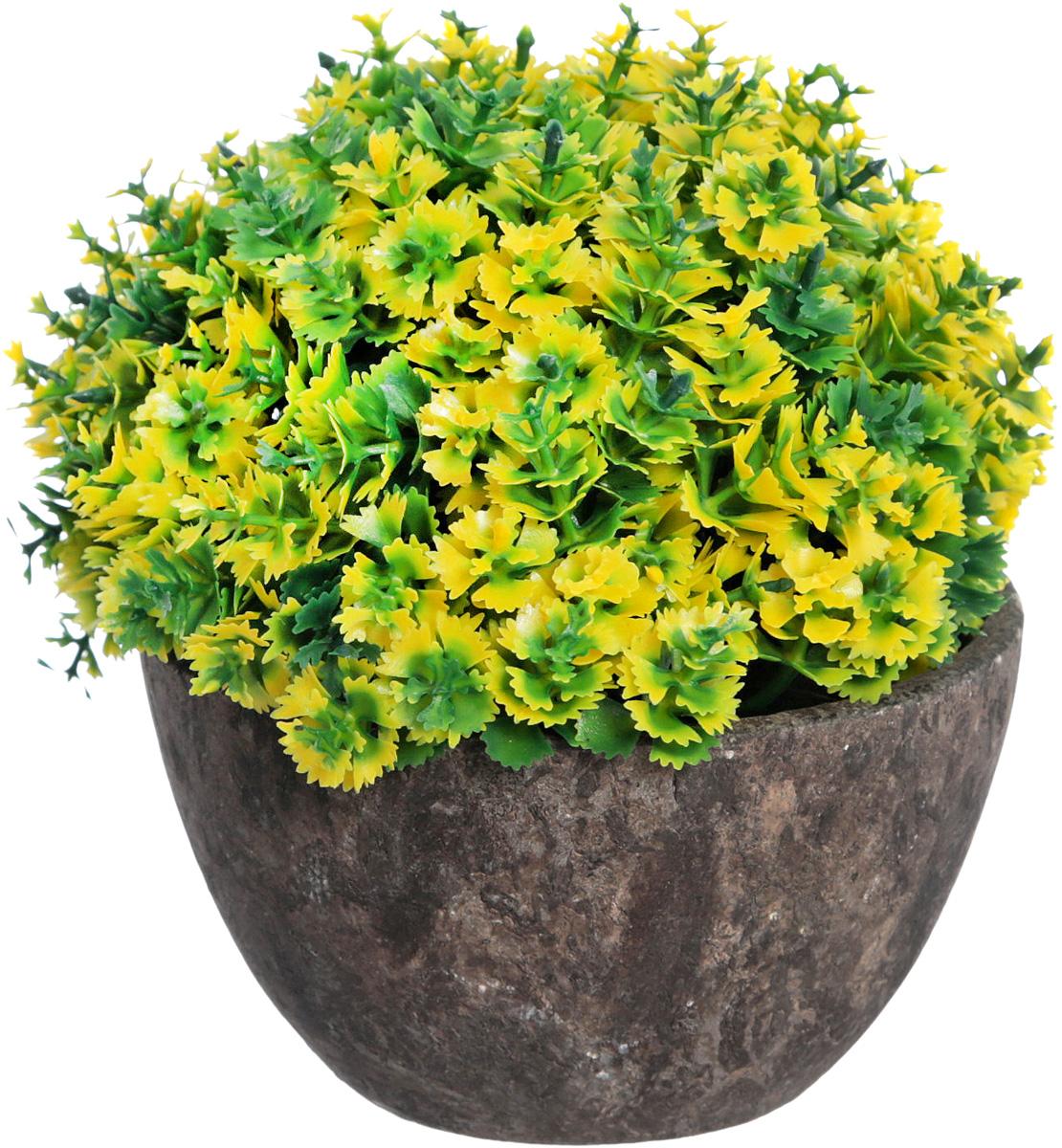 Композиция цветочная Engard Азалия, в кашпо, мелкие листья, цвет: зеленый, 15 х 13,5 см бутыль декоративная engard высота 15 см