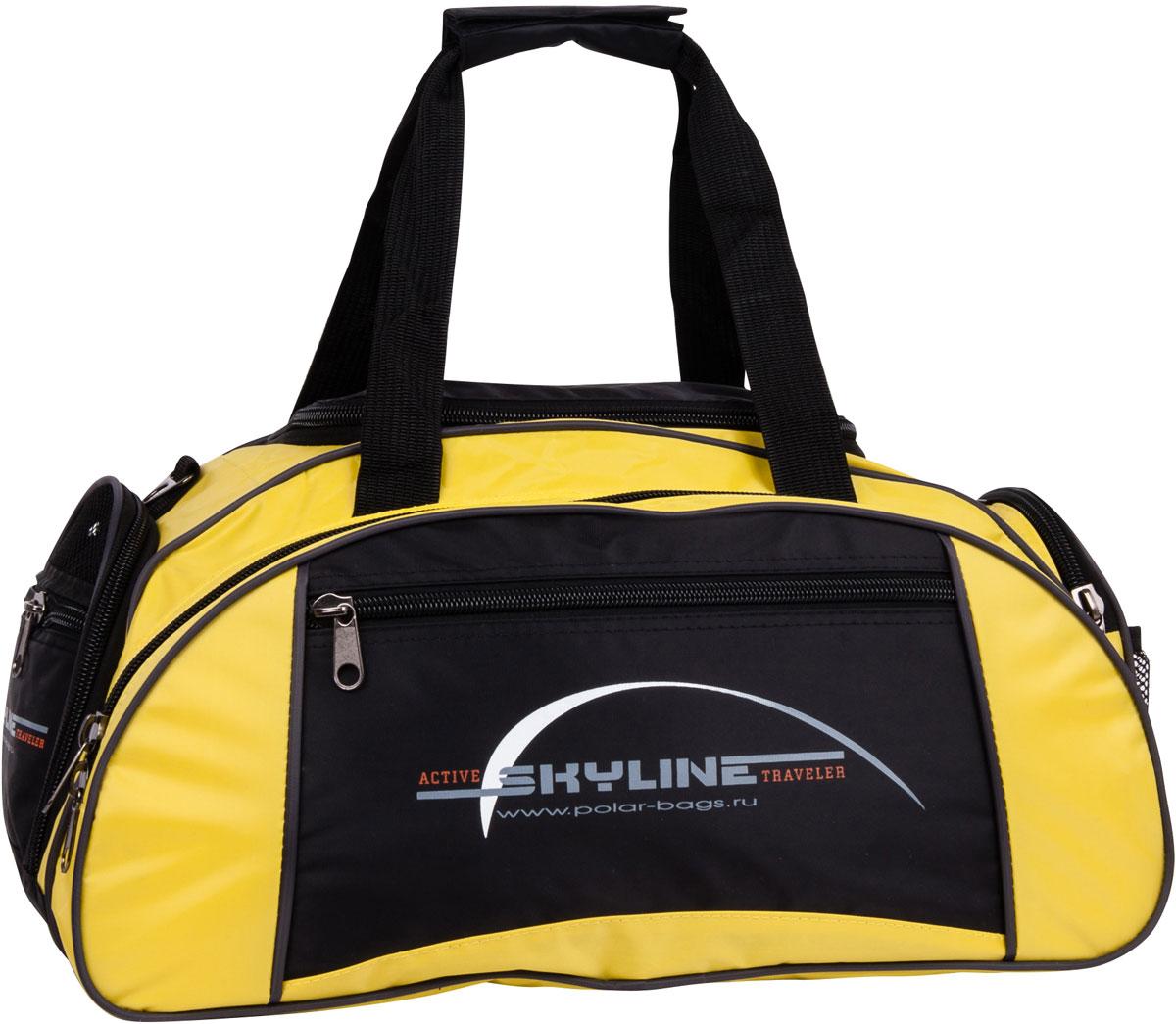 Сумка дорожная Polar Скайлайн, цвет: черный, желтый, 36 л сумка спортивная polar скайлайн цвет черный желтый серый 53 л п05 6