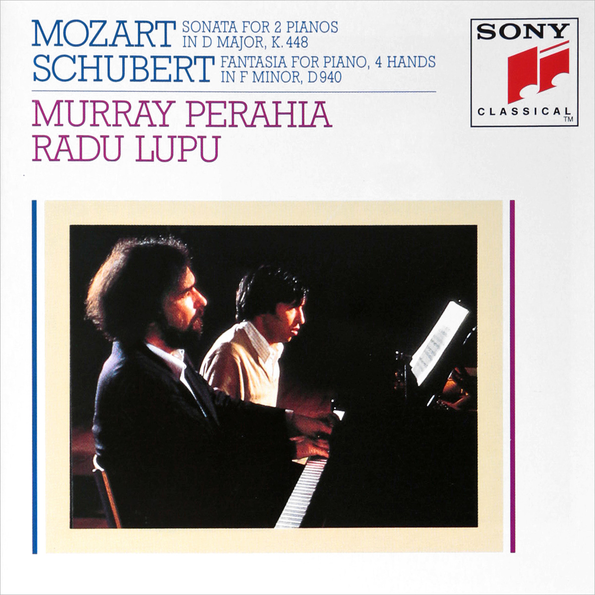 Murray Perahia, Radu Lupu. Mozart: Sonata in D Major for Two Piano mozart for kids