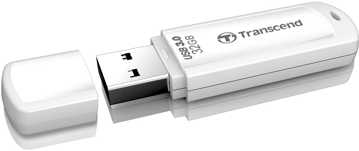 Transcend JetFlash 730 32GB, White USB-накопитель transcend jetflash 730 8gb white usb накопитель