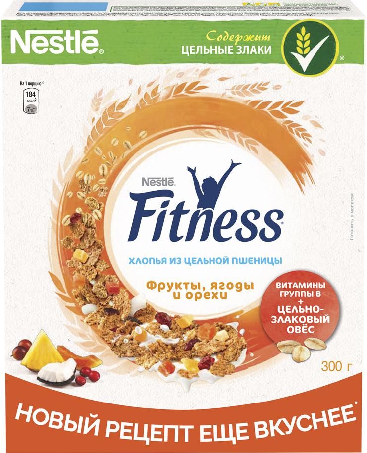 Фото - Nestle Fitness Хлопья с фруктами и ягодами готовый завтрак, 300 г nestle fitness хлопья из цельной пшеницы готовый завтрак 250 г пакет