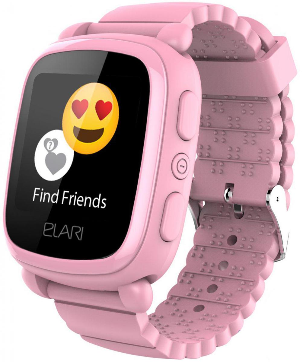 Elari KidPhone 2, Pink детские часы-телефон elari kidphone голубой