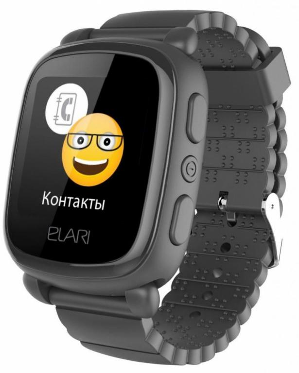 Умные часы для детей Elari KidPhone 2, черный elari kidphone голубой