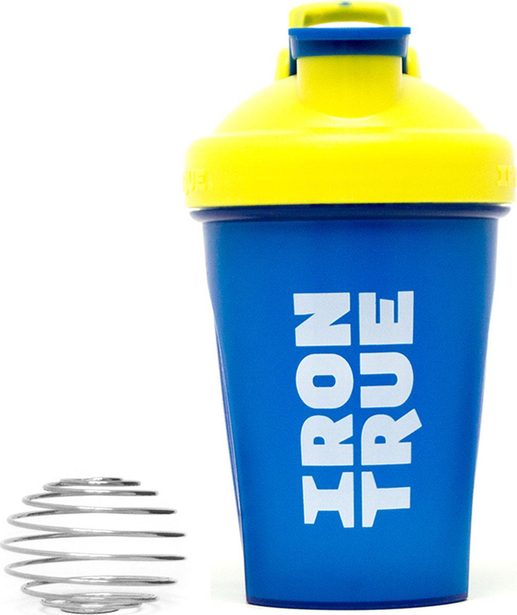 Шейкер спортивный Irontrue Classic Series, цвет: голубой, желтый, 500 мл. ITS916-400 шейкер harper gym shaker bottle с венчиком цвет голубой 500 мл